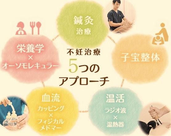 茨城妊活はり灸治療院assist 5つのアプローチ